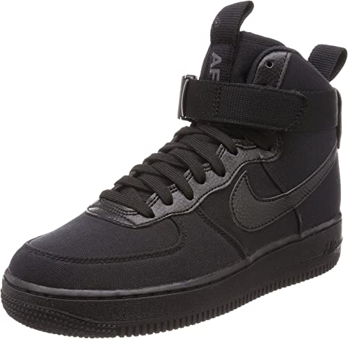"Nike Air Force 1 High Canvas ""Triple Black"" Black Black"