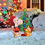 ProductWorks 32-Inch Pre-Lit Peanuts Snoopy and