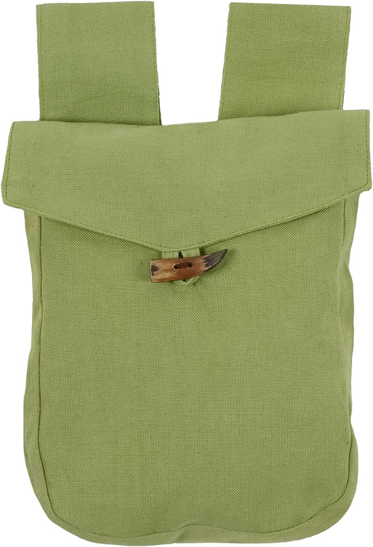 marrone verde chiaro in cotone Borsa medievale Widia nero HEMAD