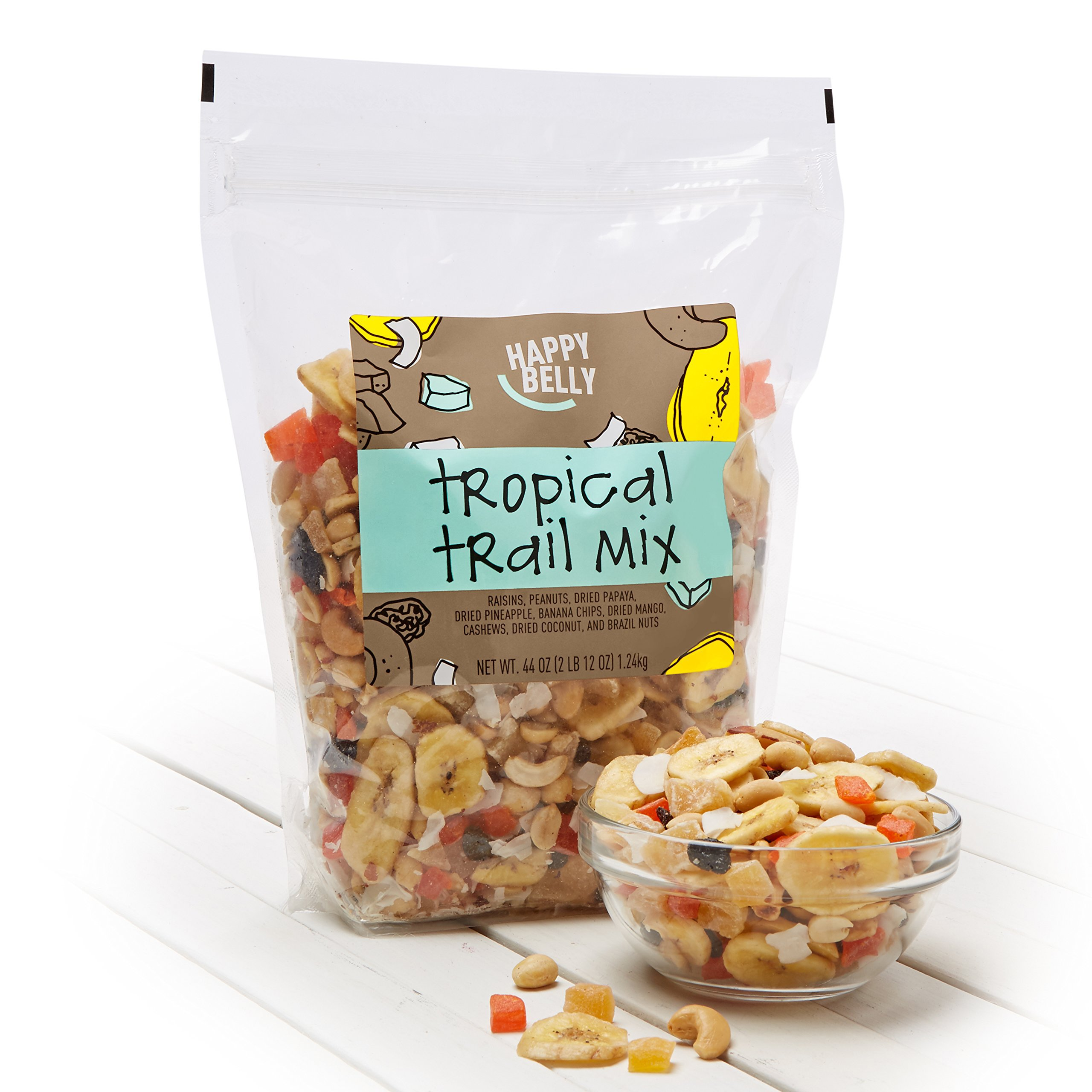 Amazon Brand - Happy Belly Amazon Brand Tropical Trail Mix, 44 ounce by Happy Belly (Image #2)
