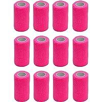 Vendaje autoadhesivo (12 rollos) de 10 cm x 4,5 m, para primeros auxilios, deportes, vendas, animales, de Cobox