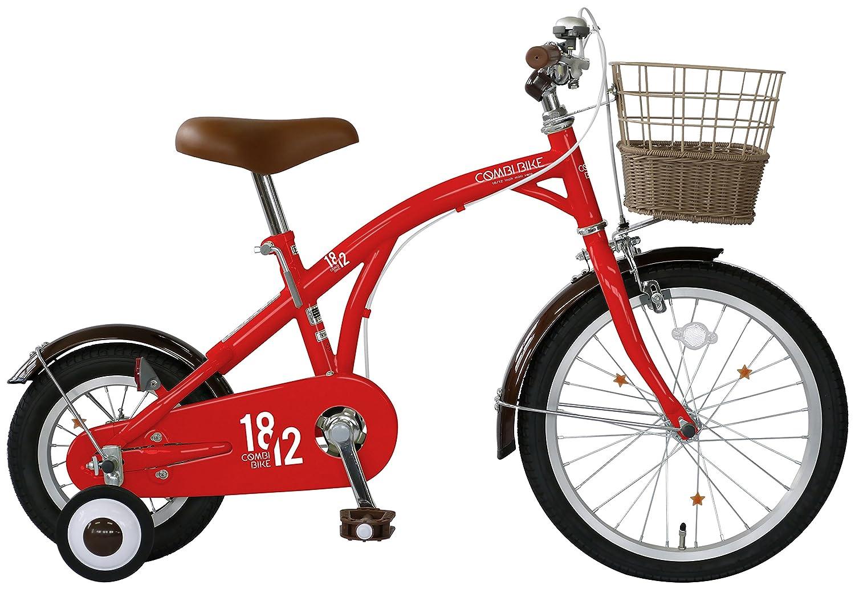 武田産業 キッズバイク COMBI BIKE(コンビバイク) [前輪18インチ 後輪12インチ 補助輪付] KP-CB12/18 レッド B072B94KJV