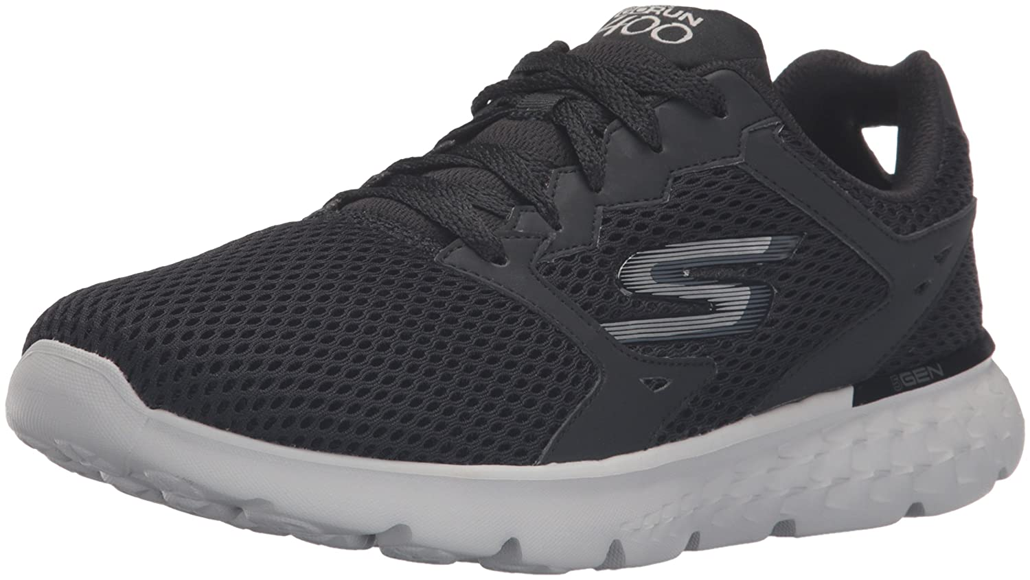 Skechers Damen GO Run 400 Funktionsschuhe  5 C/D US|Black/Gray