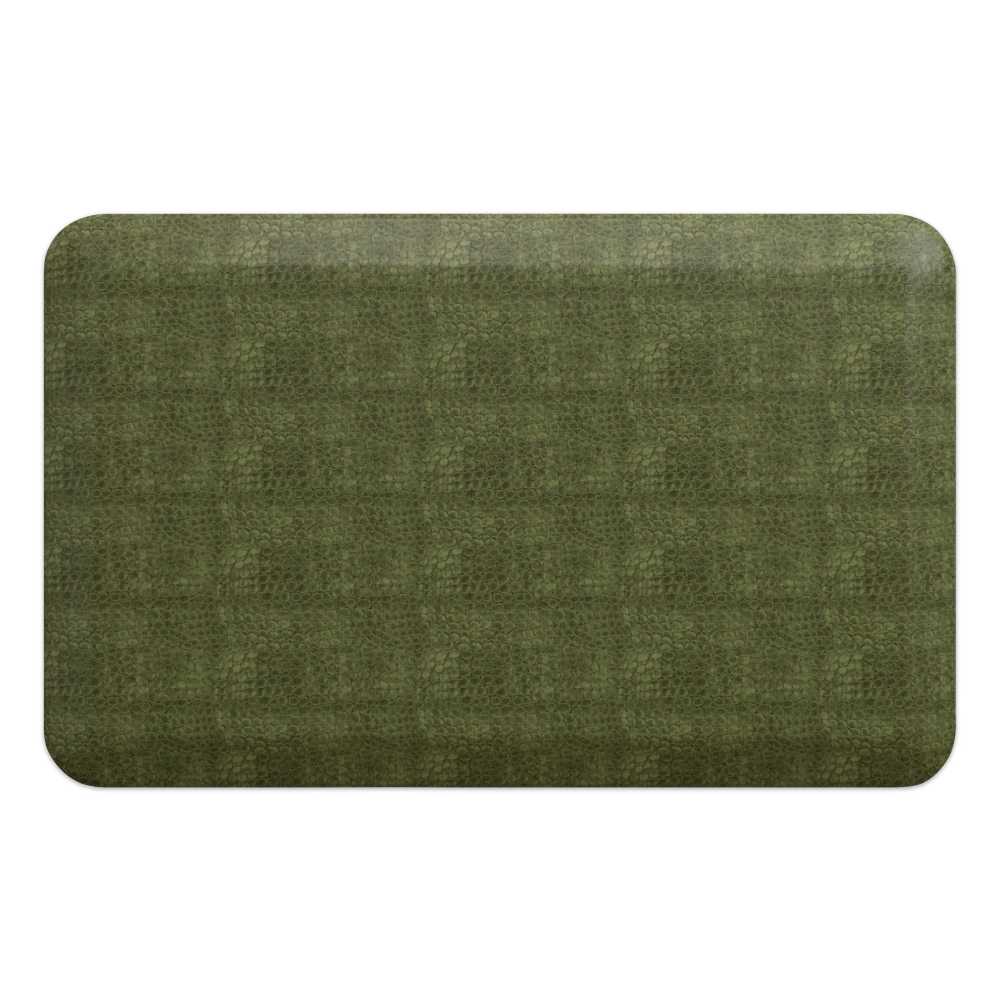 """NewLife by GelPro Anti-Fatigue Designer Comfort Kitchen Floor Mat, 20x32"""", Pebble Palm Stain Resistant Surface with 3/4"""" Thick Ergo-foam Core for Health and Wellness"""