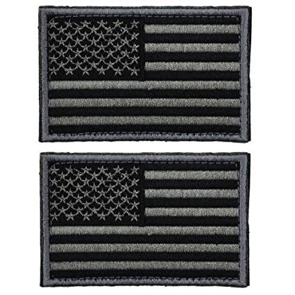 Amazon.com  2 Pieces Tactical USA Flag Patch -Black   Gray- American ... 89f575d996