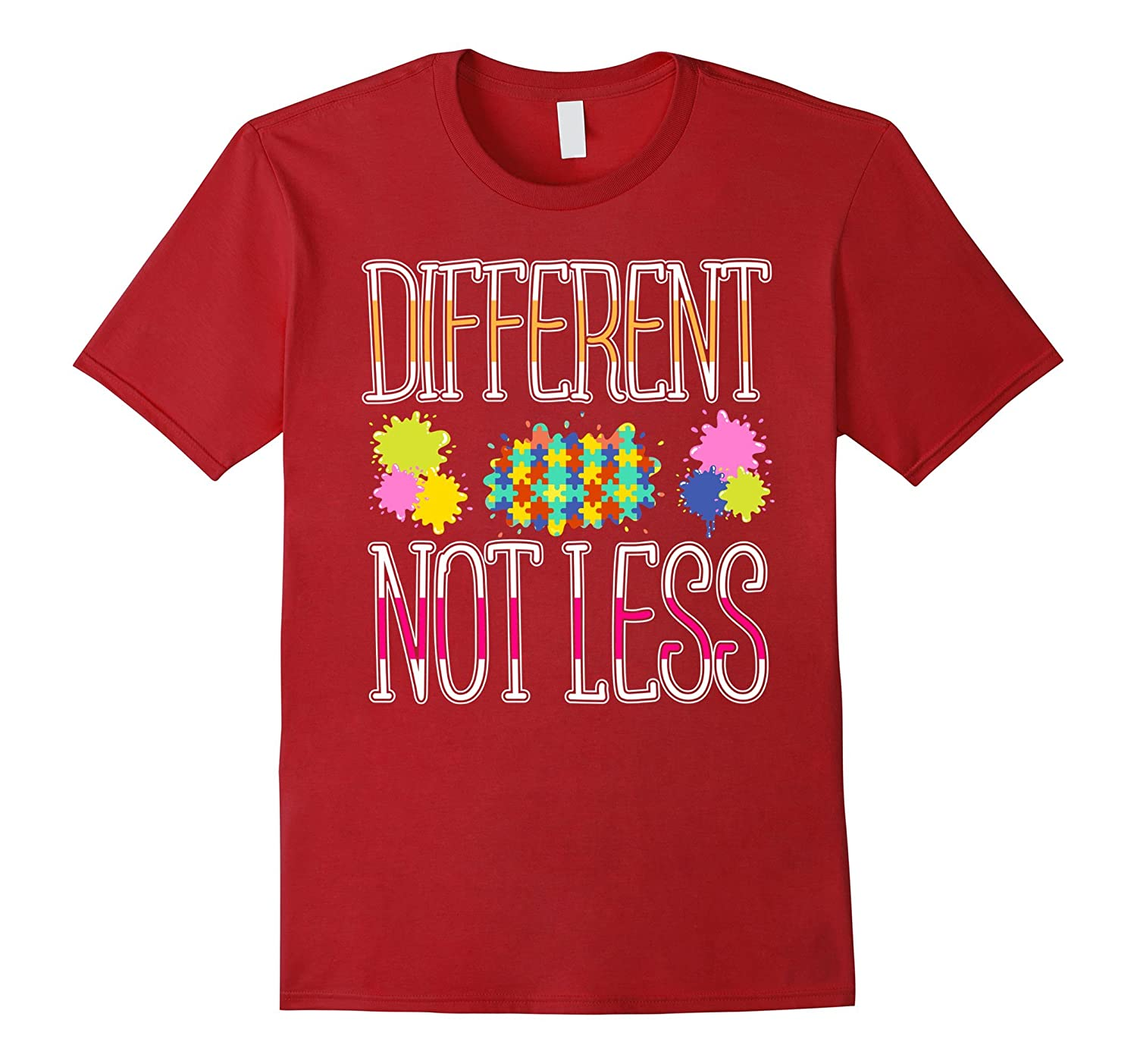 2017 Gifts Autism Awareness T Shirt Different Not Less-TD