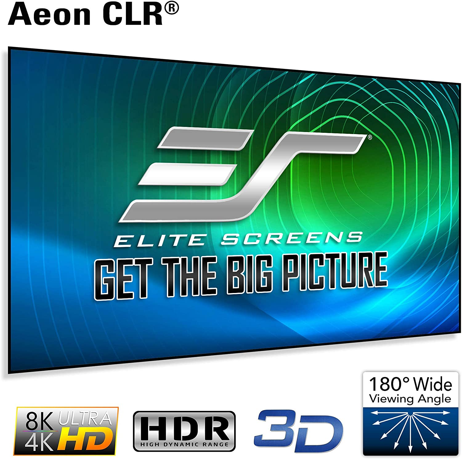 Amazon Com Elite Screens Aeon Clr Series 100 Inch 16 9 Edge Free Ambient Light Rejecting Fixed Frame Projector Screen Ceiling Light Rejecting Projection Material For Ultra Short Throw Projectors Ar100h Clr Electronics