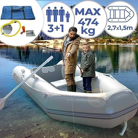 Jago Barca Hinchable para 3 Personas - 270 x 152 cm, con 2 ...