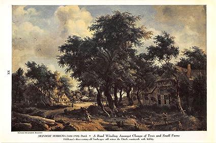 Amazon.com: Impresión ad 1948 Meindert Hobbema holandés a ...