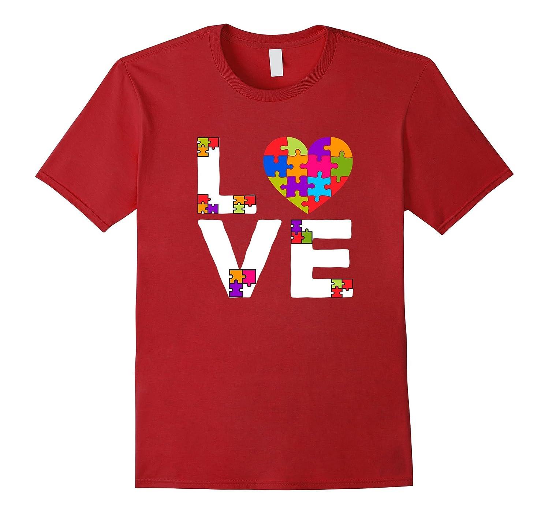 2017 Autism Awareness Love T Shirt-TH