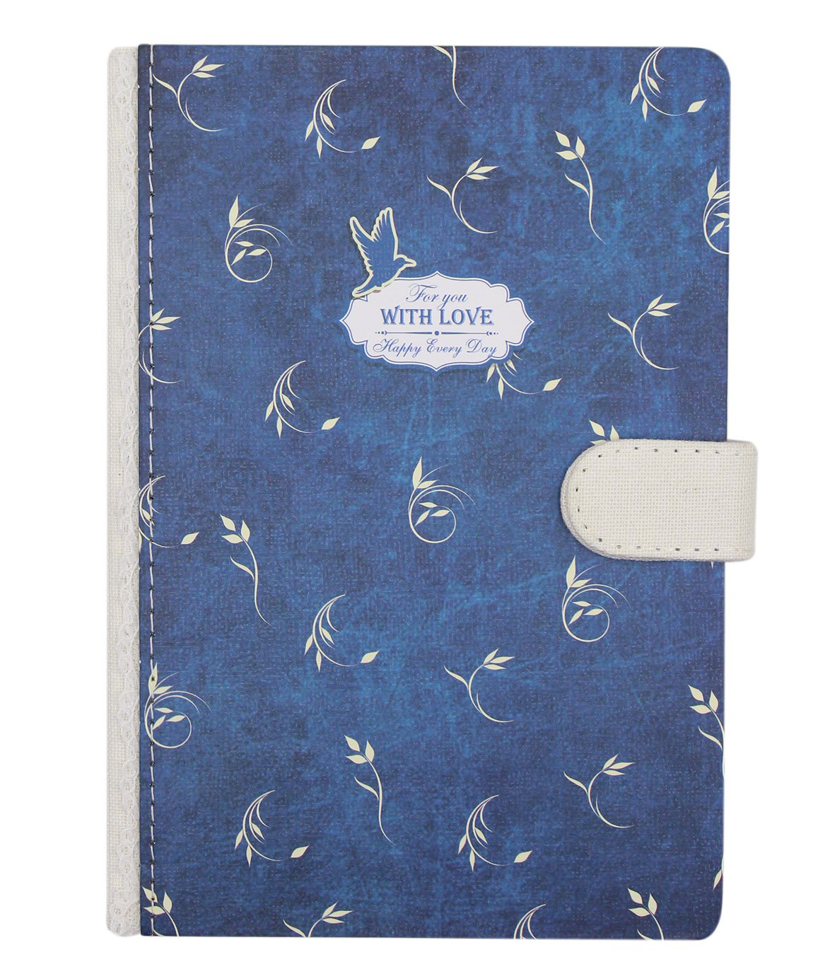 Aimeio Hardcover Notebook Cute Floral Thick Notepad Writing Journal Diary,Magnetic Closure,128 Sheets Lined Paper,7.3x5.0 Inches for Travel,Personal