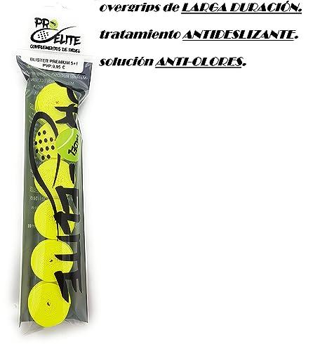 overgrips Pro Elite Premium Liso Amarillo Flúor. Blister 5+1 ...