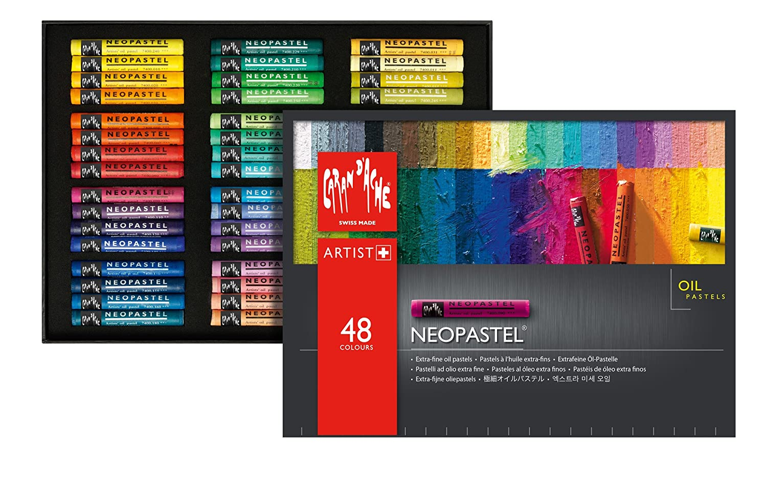 Caran d/'Ache NEOPASTEL Soft Oil Pastel 48 Colors Ultra High Quality Artist