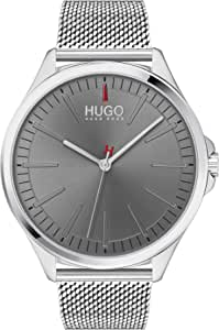 HUGO by Hugo Boss Men's #SMASH Quartz Watch with Stainless Steel Strap, Silver, 20 (Model: 1530135)