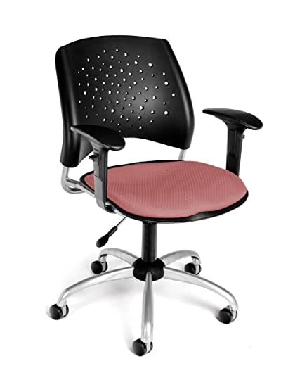 Tremendous Ofm Stars Swivel Chair With Arms Coral Pink Evergreenethics Interior Chair Design Evergreenethicsorg