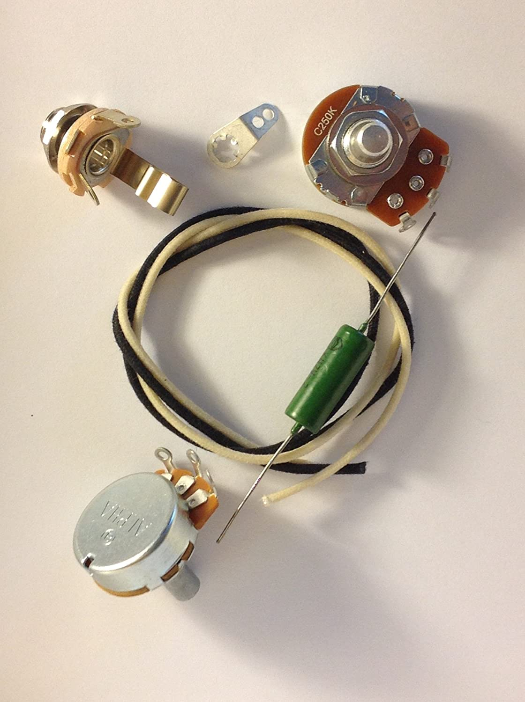 Basic Wiring Harness Kit For J Bass Us Spec Pots 033uf Sprague Orange Drop Axe059