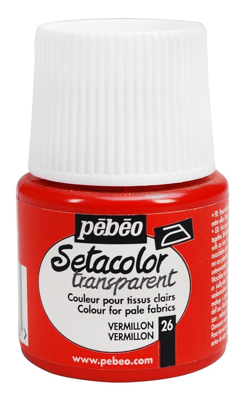 Pebeo Setacolor ライトファブリックペイント 45ミリリットルボトル Vermilion   B004IG2FGO