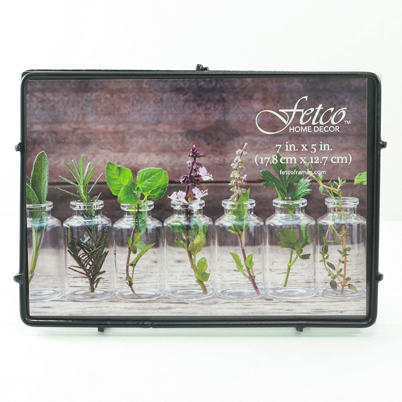 Amazon.de: Fetco Home Décor Franco 7X5 Press Picture Rahmen, Metall ...