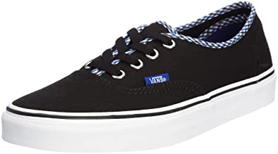 da302909416a Vans Unisex Authentic Gingham Sneakers Black M4 W5.5