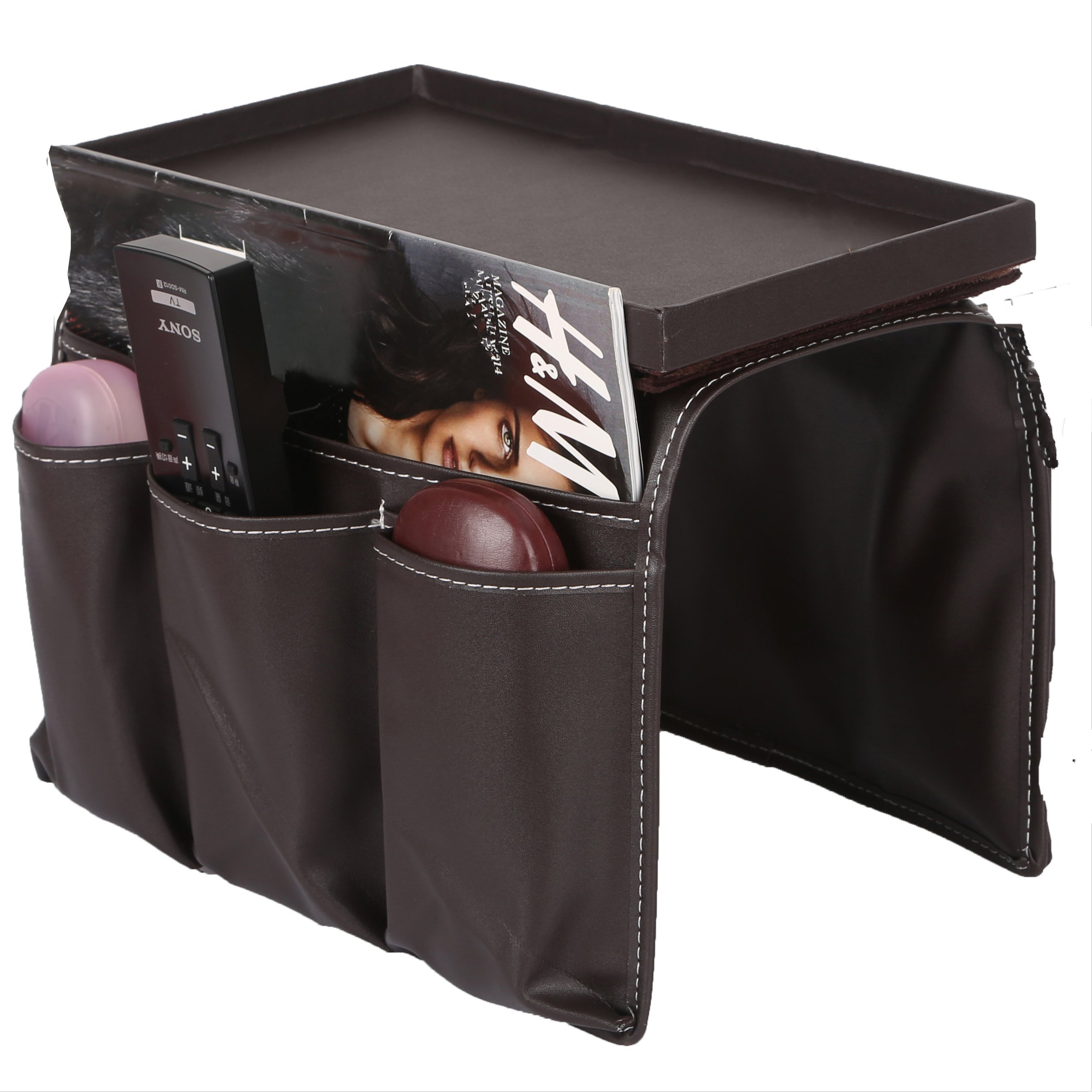 sofa couch remote control holder chair armrest caddy pocket organizer remote 642954051686 ebay. Black Bedroom Furniture Sets. Home Design Ideas