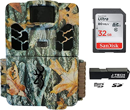 Browning Dark Ops HD Pro X 2019 Trail Game Camera Bundle Includes 32GB Memory Card and J-TECH Card Reader 20MP BTC6HDPX
