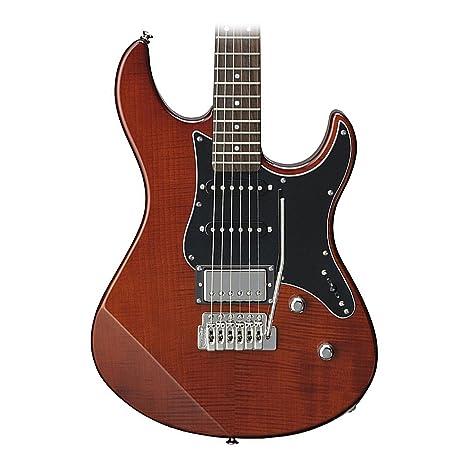 Yamaha pac612viifm RB edición limitada llama arce Top Guitarra eléctrica (Root Beer)