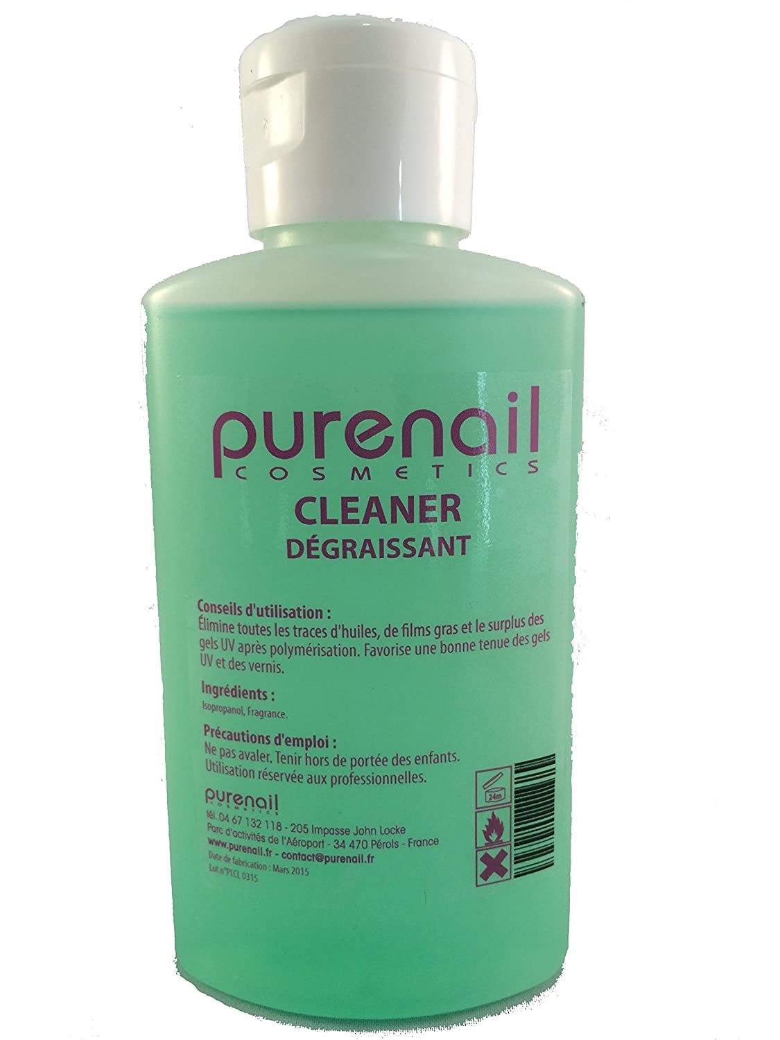 Nail Cleaner Sgrassante per Gel UV e unghie finte, 100 ml