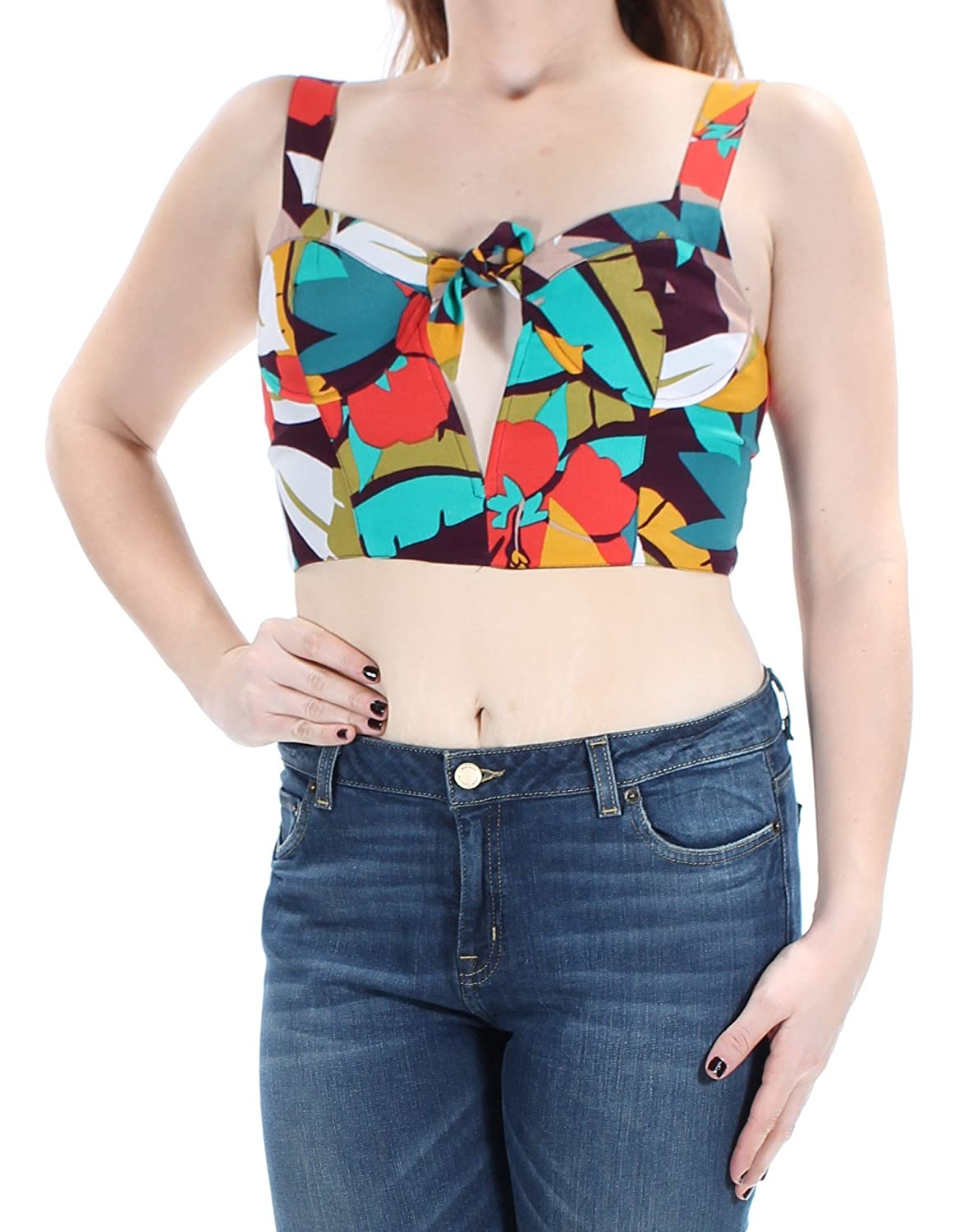 ASTR the Label Womens Printed Built-in Bra Bralette ACT12068