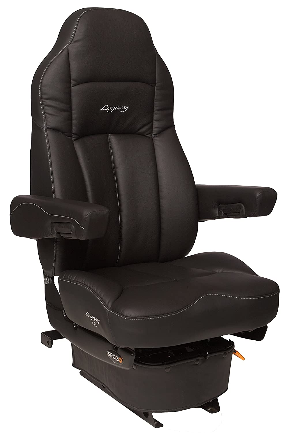 Legacy Air-ride Seat (Low Suspension) | Black DuraLeather + Adjustable with  D2 Foam Technology