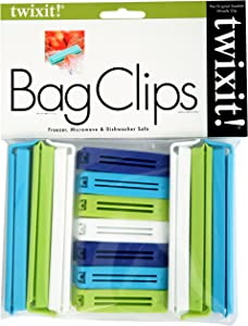 Linden Sweden Twixit! Bag Clips - Set of 13 - Keep Food Fresh, Prevent Spillage - Great for Storage and Organization - Microwave, Freezer and Dishwasher-Safe - BPA-Free