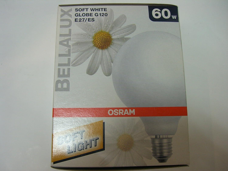 Osram Globelampe BELLA G120 SIL 60 Watt Glü hlampe Birne Kugel