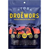 Ayoba Droewors Beef Sticks - Grass Fed, Keto and Paleo Certified Air-Dried Sausages - Whole 30 Approved, No Sugar…