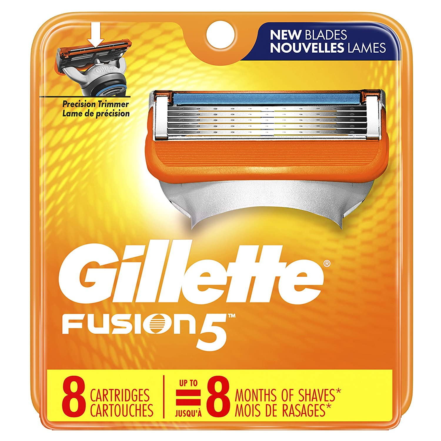 Gillette Fusion 5 Blade Refills, 8 Count