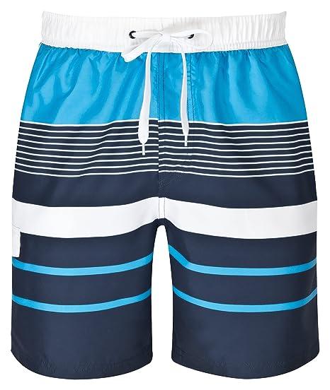 3514da8a409b mareno® - Short de Bain avec Motif rayé Moderne en Bleu  Amazon.fr   Vêtements et accessoires