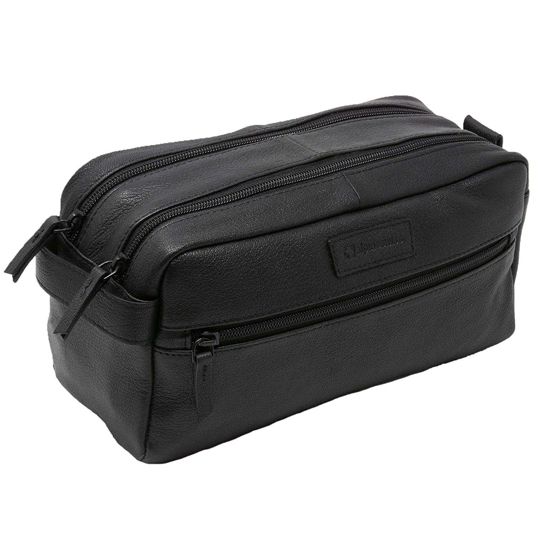 Alpine Swiss Sedona Toiletry Bag Genuine Leather Shaving Kit Dopp Kit Travel Case By Alpine Swiss