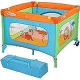 Infantastic Portable Baby Travel Cot Playpen (Savannah Friends) Nursery Bed