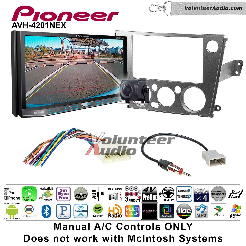 Volunteer Audio Pioneer AVH-4201NEX Double Din Radio Install Kit with Apple Carplay Android Auto Bluetooth Fits 2005-2009 Subaru Legacy, Outback