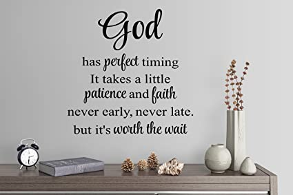 Amazoncom 24x24 God Has Perfect Timing It Takes A Little