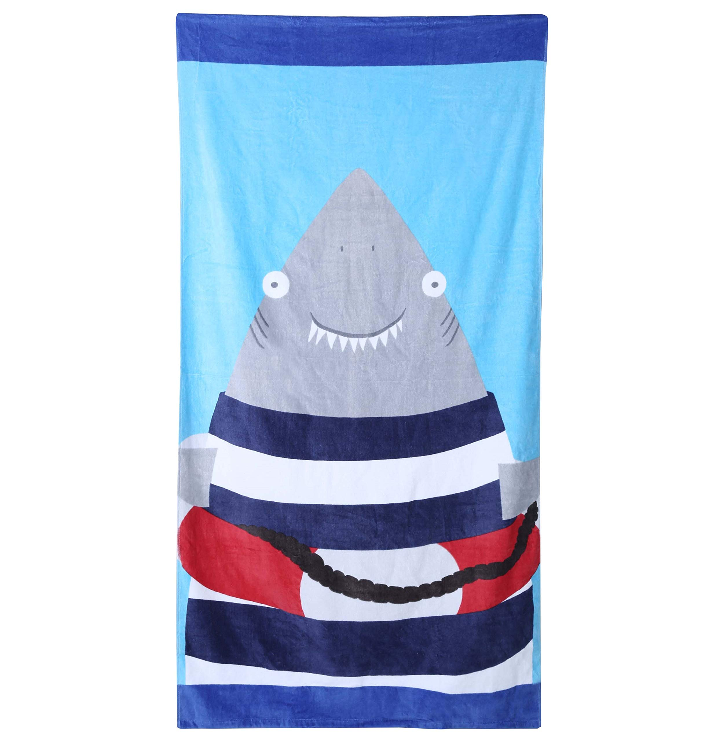 Wowelife Baby Bath Towels for Bath, Pool and Beach 100% Cotton 30 x 63 inch Extended Length for Both Children and Adults(Happy Jaw)