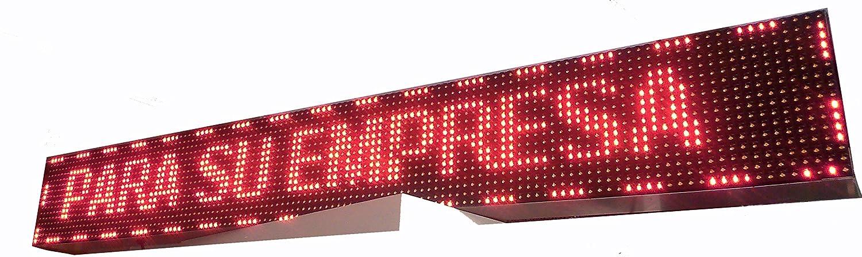 PANTALLA LED PROGRAMABLE LETRERO LED PROGRAMABLE CARTEL LED PROGRAMABLE ROTULO LED PROGRAMABLE (128 * 16 cm, ROJO) PROGRAMMABLE LED SIGN PROGRAMMABLE ...