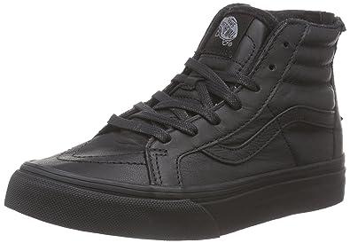 Chaussures Vans K SK8-HI Zip - MTE Black / Leather mu0RF
