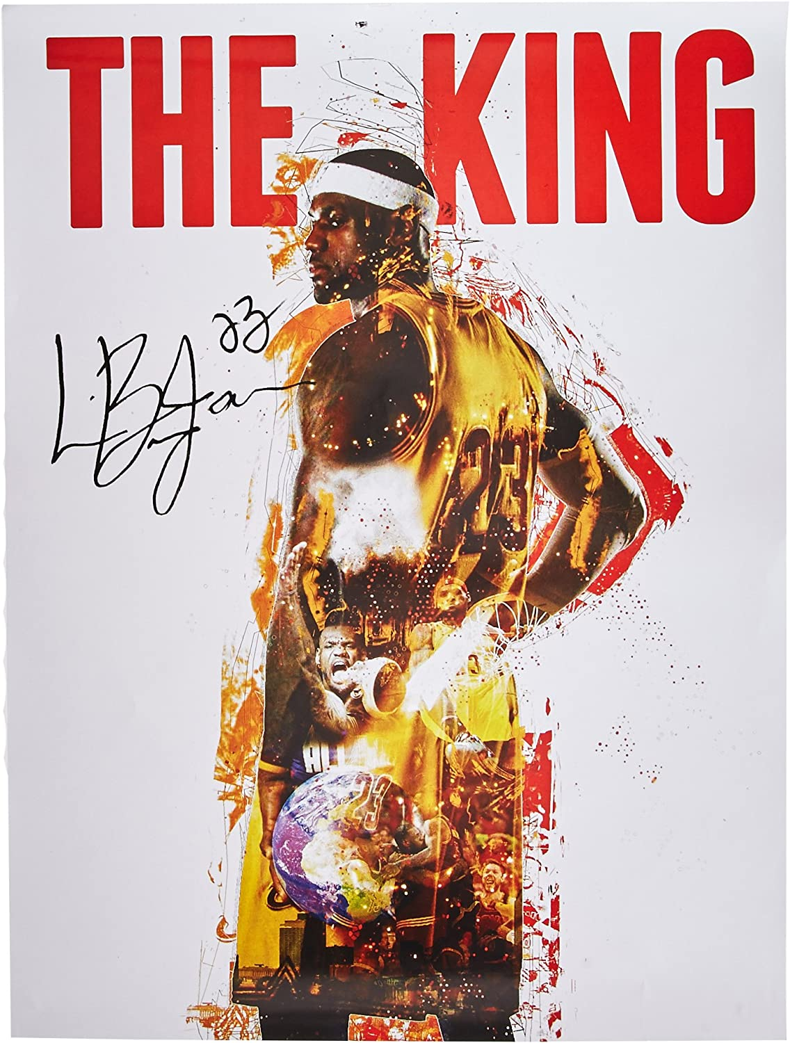 777 Tri-Seven Entertainment Lebron James The King 18x24 Cavaliers 23 Color Poster African American History, 18