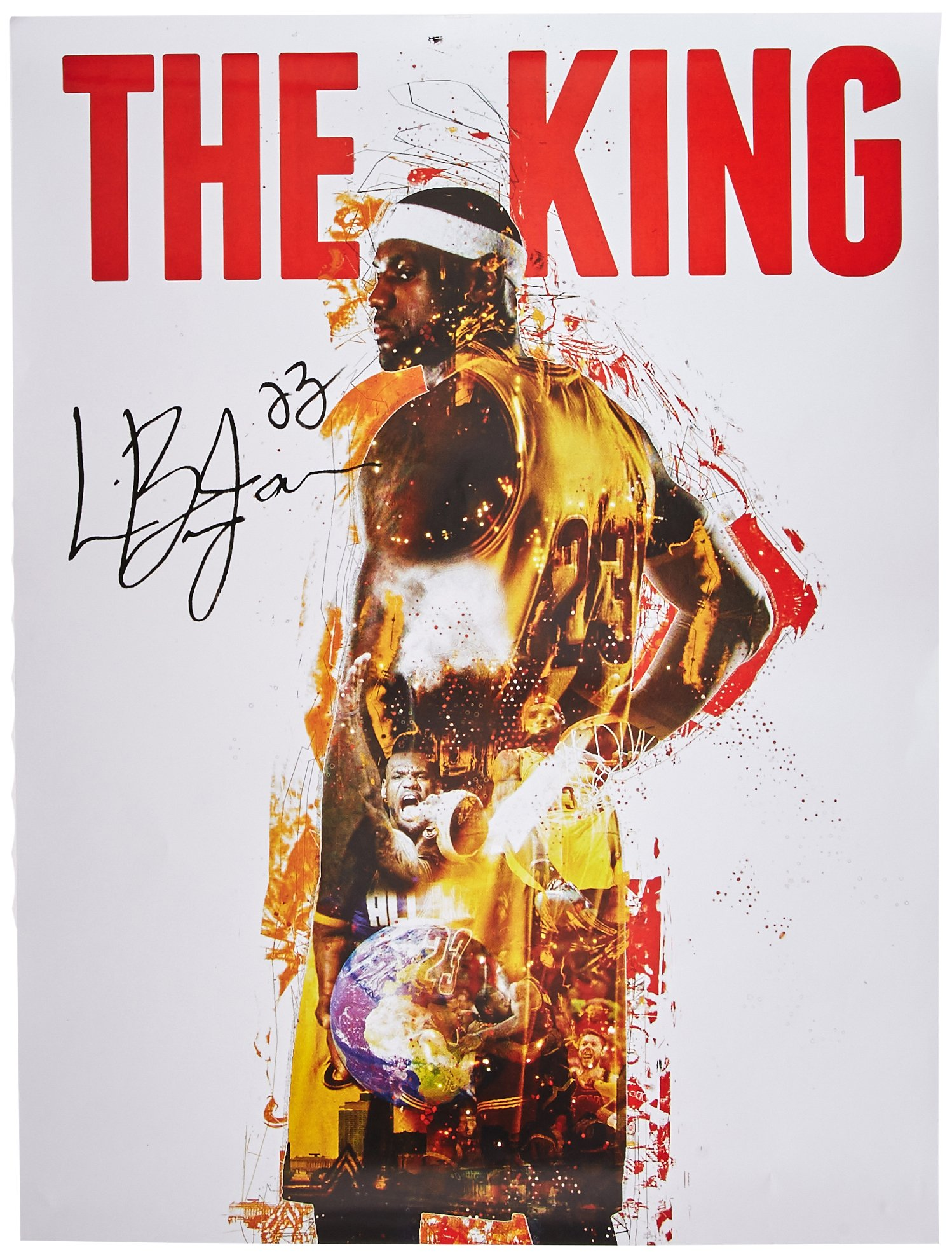 777 Tri-Seven Entertainment Lebron James The King 18x24 Cavaliers 23 Color Poster African American History, 18'' x 24'' by 777 Tri-Seven Entertainment