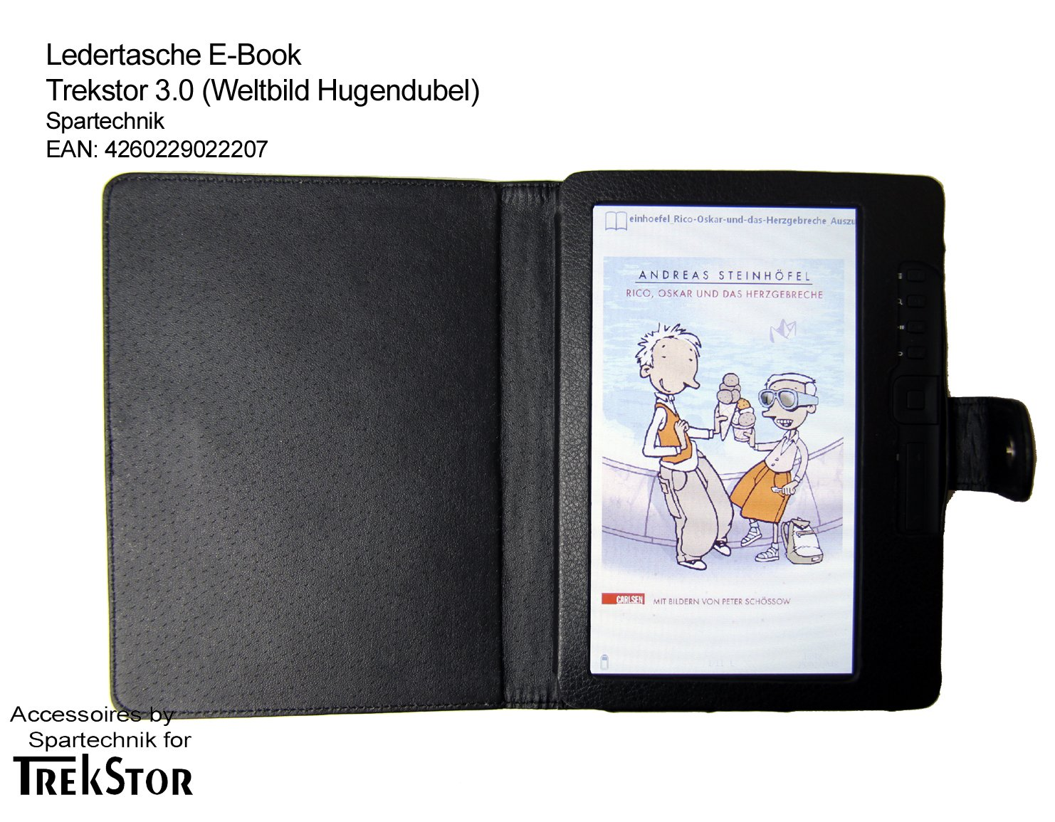 Spartechnik - Funda para e-reader Trekstor 3, color negro: Amazon ...
