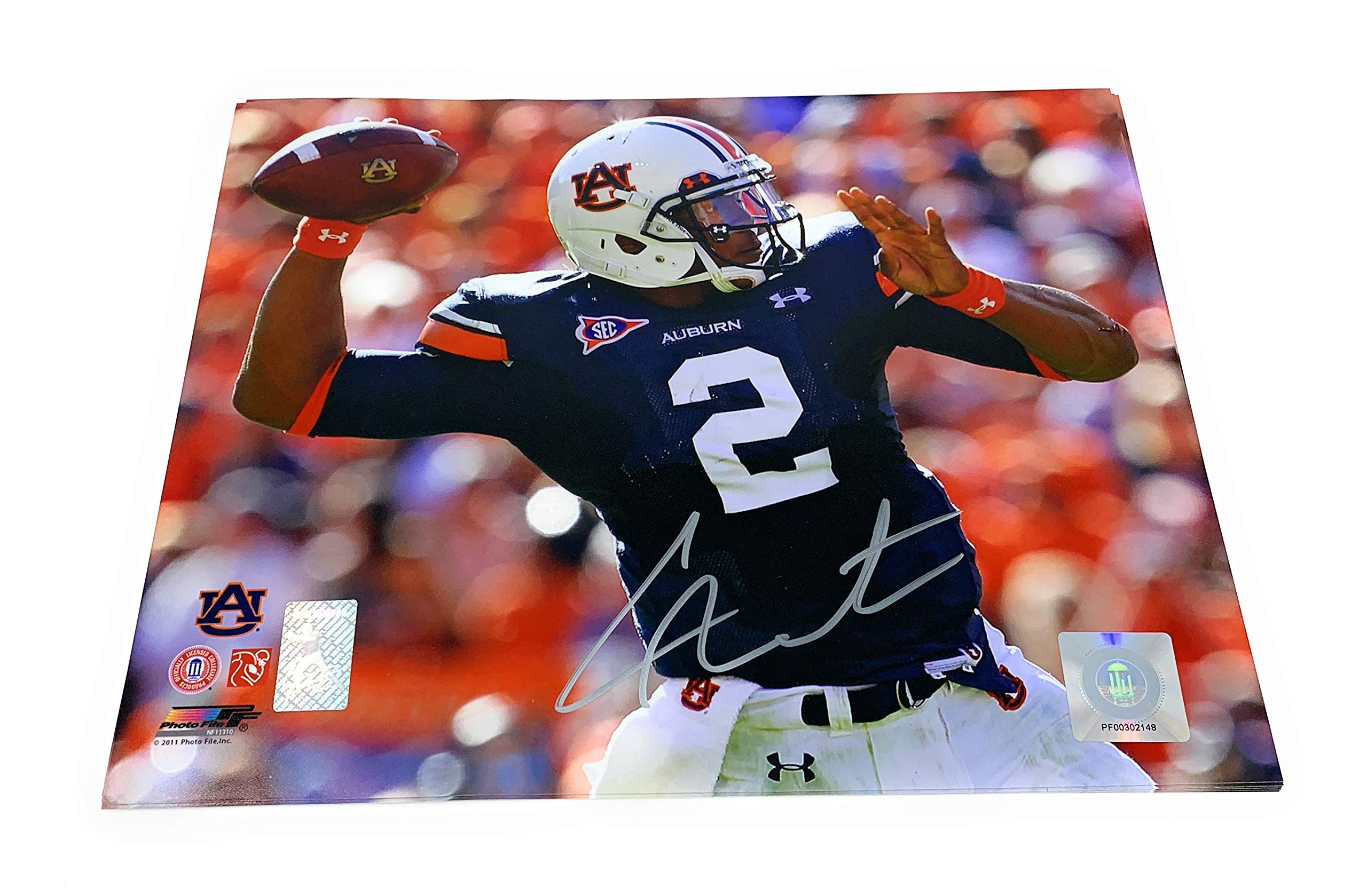 Cam Newton Auburn Tigers Signed Autograph 8x10 Photo Photograph GTSM Newton Player Hologram Certified