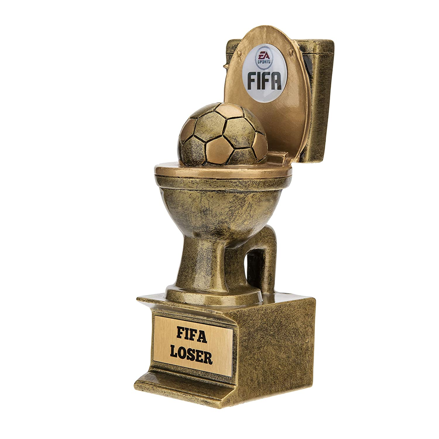 Another angle of the FIFA Loser trophy. Credit: Amazon