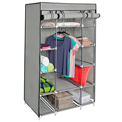 Best Choice Products 13-Shelf Portable Fabric Closet Wardrobe Storage Organizer w/ Cover and  sc 1 st  Amazon.com & Amazon.com: Best Choice Products 13-Shelf Portable Fabric Closet ...