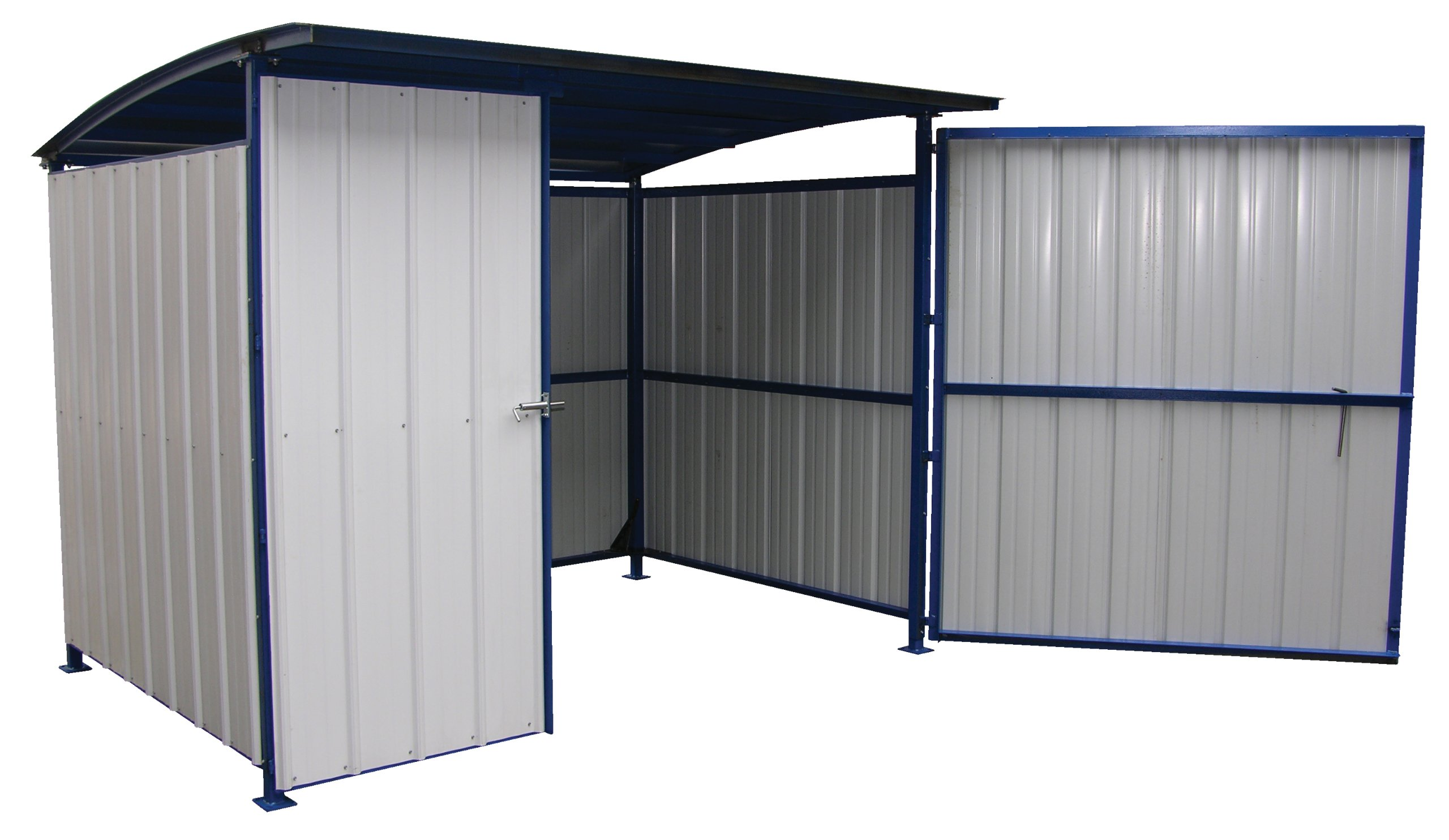 Vestil MDS-96-DR Multi Duty Shed with Doors, Heavy Duty Steel, 120'' Width, 95-1/2'' Depth, 90'' Height