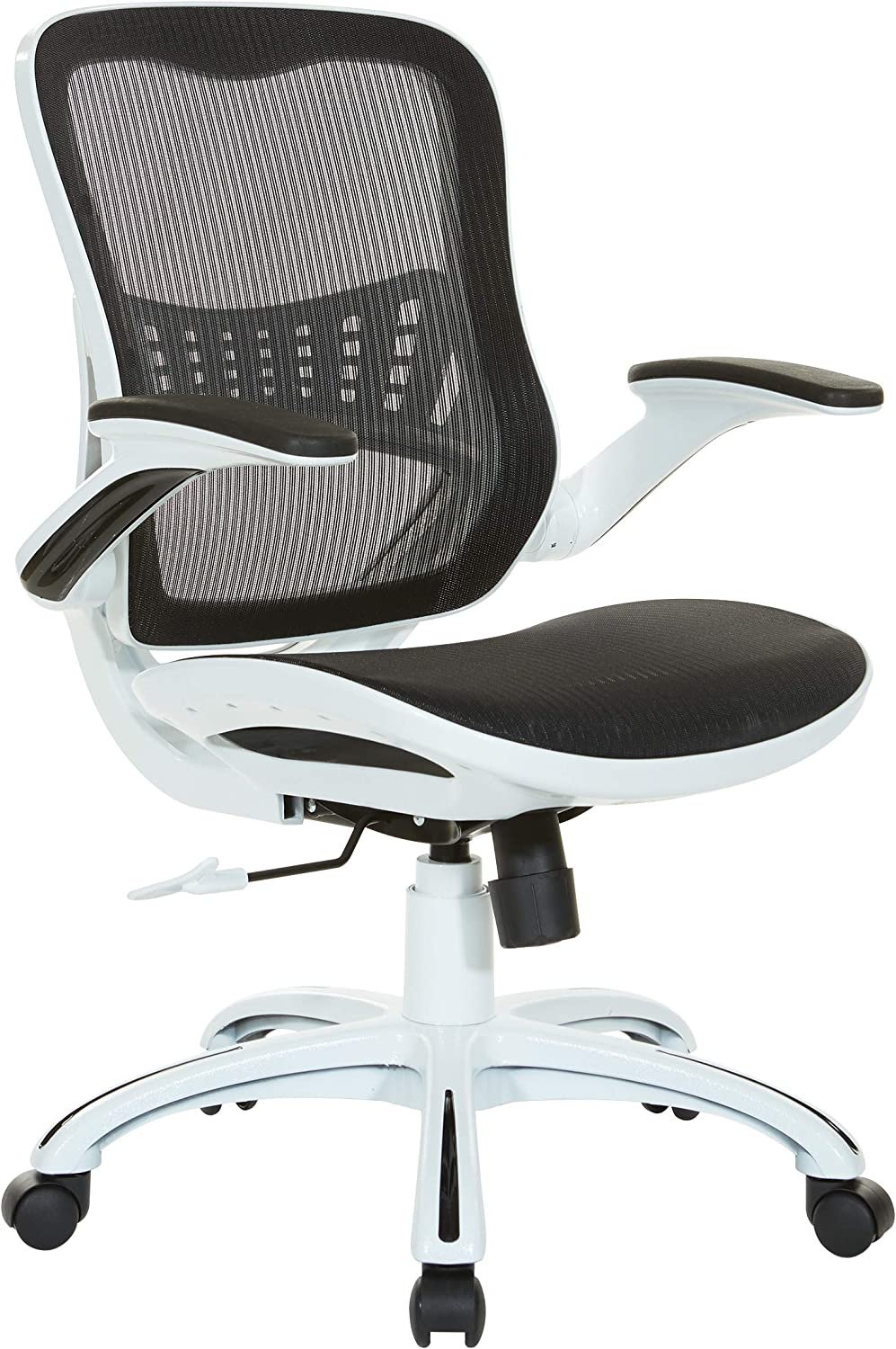 Office Star Mesh Seat and Back Riley Office Chair, Black