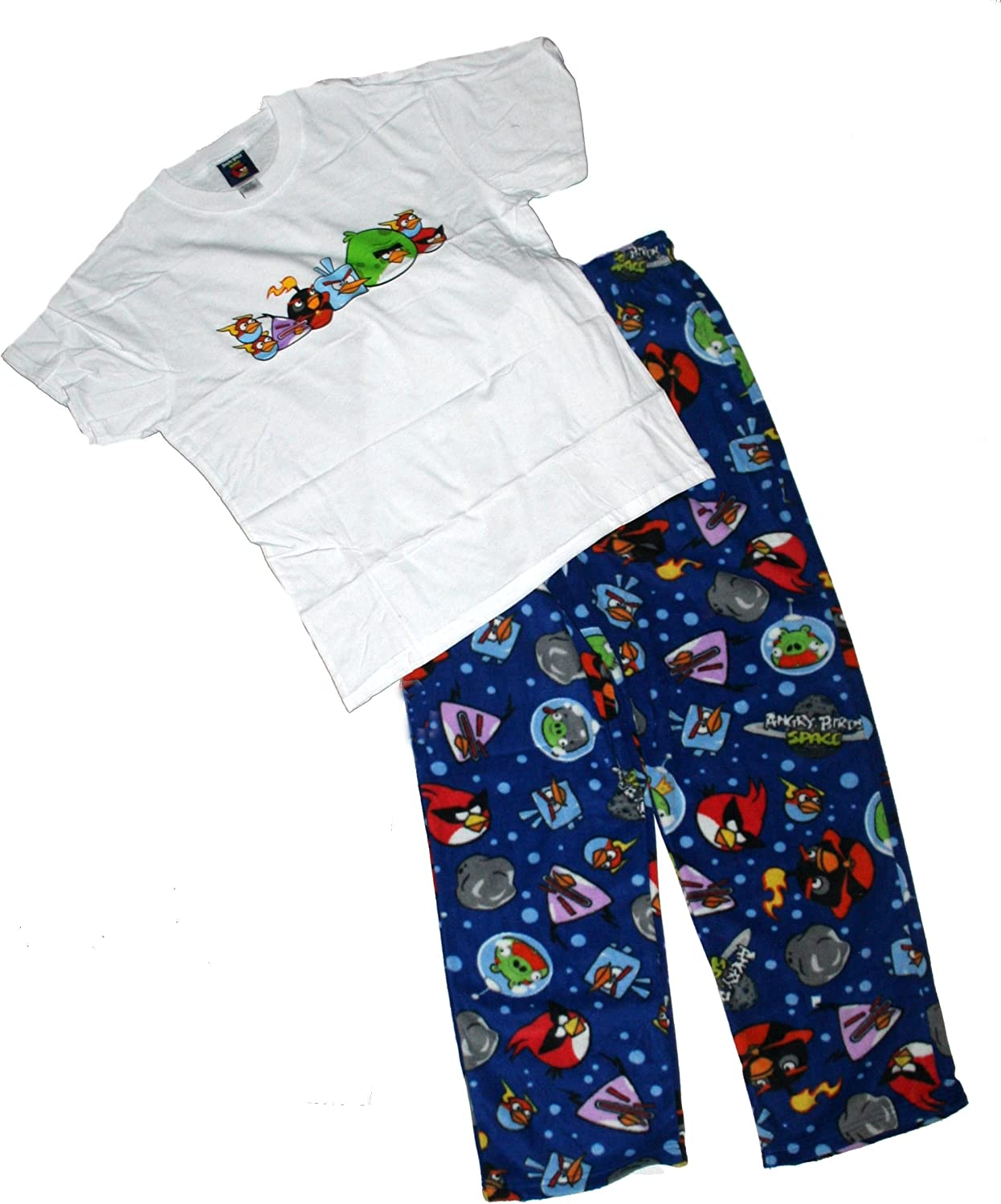 Angry Birds Mens' Space Tee and Microfleece Sleep Set